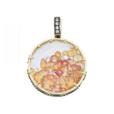 Glenn Bradford Fine Jewelry Yellow Sapphire Diamond Dust Charm