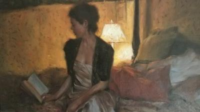 Glenn Harrington Lady Reading