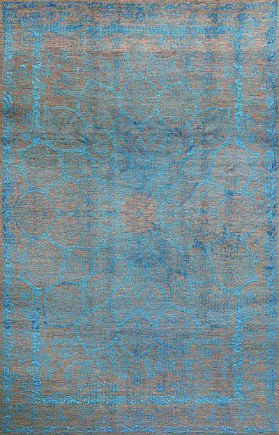 Gloss in Turquoise SoFarSoNear Studio Super Fine Gabbeh Wool Silk