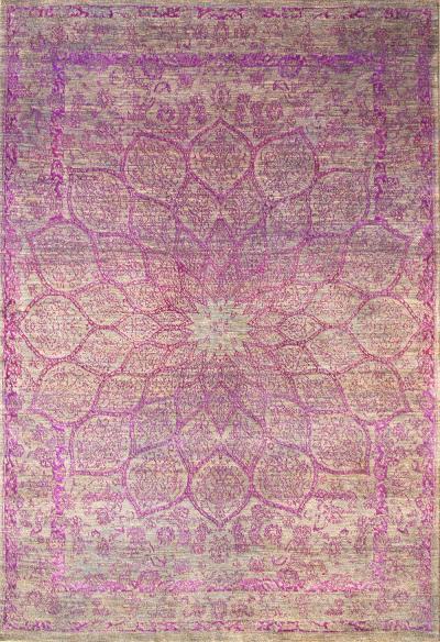 Gloss in Violet SoFarSoNear Studio Super Fine Gabbeh Wool Silk
