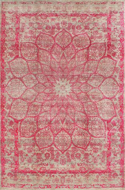 Gloss in hues of Pink SoFarSoNear Studio Super Fine Gabbeh Wool Silk
