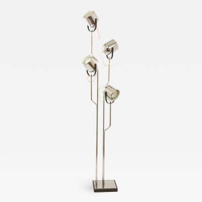Goffredo Reggiani Chromed Reggiani floor lamp with four spotlights circa 1970