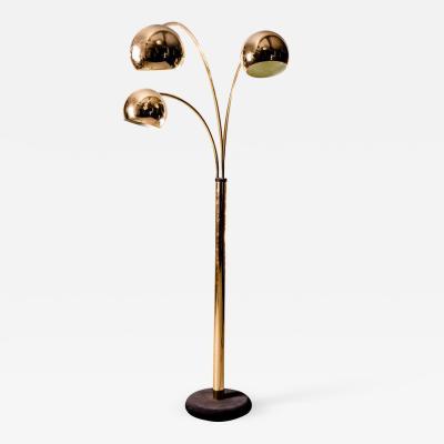 Goffredo Reggiani Goffredo Reggiani Brass Globe Floor Lamp Italy circa 1970