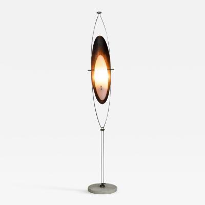 Goffredo Reggiani Goffredo Reggiani Steel Copper and White Plexiglass Floor Lamp