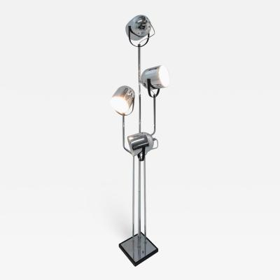 Goffredo Reggiani Reggiani 4 Head Chrome and Black Floor Lamp