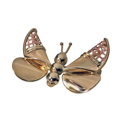 Gold Butterfly Brooch Italy 20th century