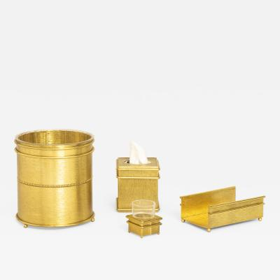 Gold Hollywood Regency bathroom set