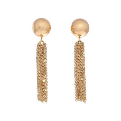 Gold Mesh Chandelier Earrings
