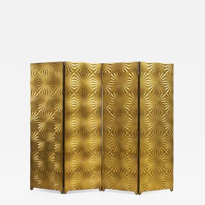 Gold Mid Century Room Divider Italy ca 1970s