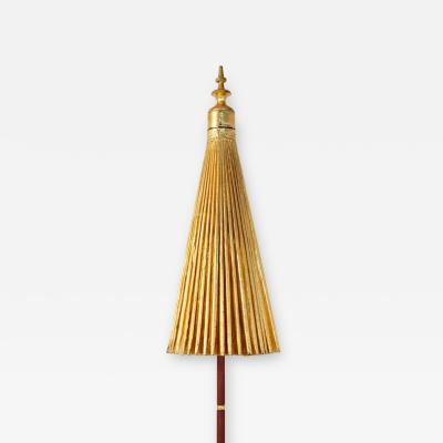 Gold Umbrella with Rainbow Accent
