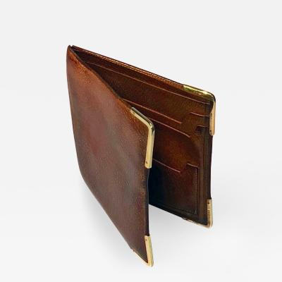Gold and Leather Dunhill Wallet London 1967