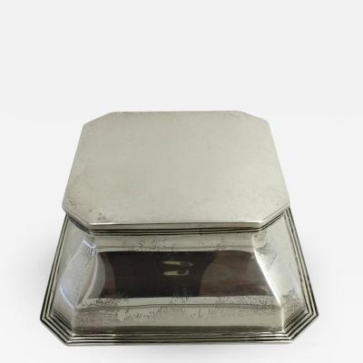 Goldsmiths Silversmiths Co English Silver Inkwell Stamped Goldsmiths and Silversmiths Company
