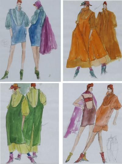 Gordon Henderson Original Gordon Henderson Fashion Sketches