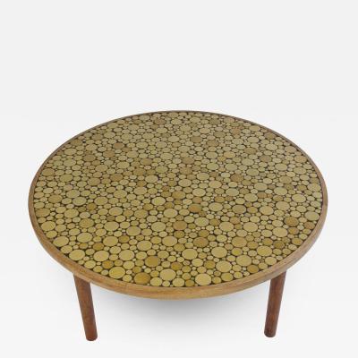 Gordon Jane Martz Ceramic Tile Top Coffee Table by Gordon and Jane Martz