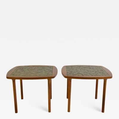 Gordon Jane Martz Pair of Ceramic Tile Top Side Tables by Gordon and Jane Martz