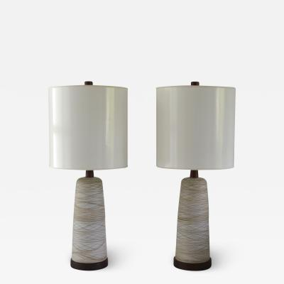 Gordon Jane Martz Pair of Mid Century Ceramic Table Lamps