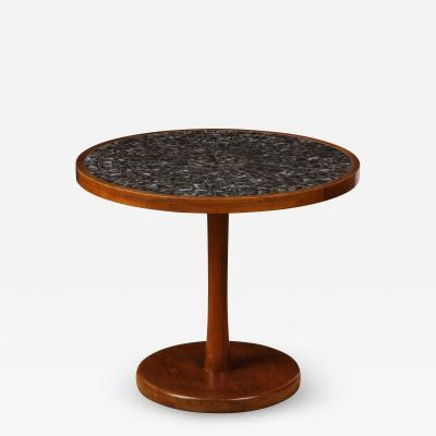 Gordon Jane Martz Round side table with exceptional ceramic top
