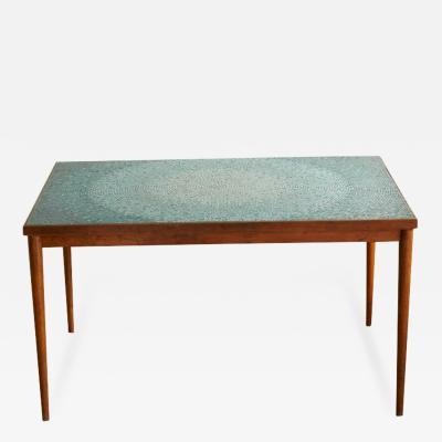 Gordon Martz Aquamarine Mosaic Tile Dining Table Attributed to Gordon Martz Marshall Studio