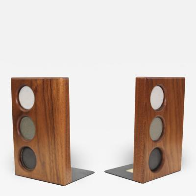Gordon Martz Gordon And Jane Martz For Marshall Studios Walnut Bookends