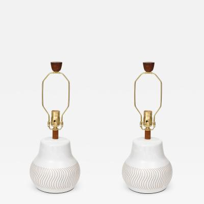 Gordon Martz Gordon Martz Incised Pottery Lamps