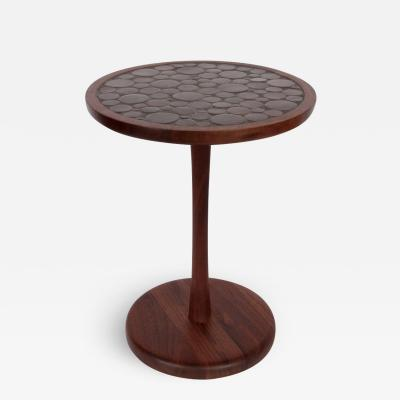 Gordon Martz Gordon Martz Marshall Studios Dark Walnut Cocoa Ceramic Pedestal Table
