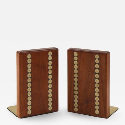 Gordon Martz Gordon Martz Walnut Ceramic Bookends