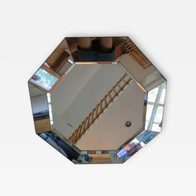 Gorgeous Octagon Faceted Mirror Midcentury