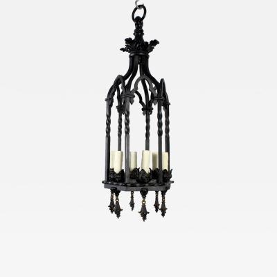 Gothic Style Lantern in Aged Bronze