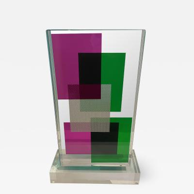 Grace Absi American Modern Lucite Monolithic Sculpture Grace Absi