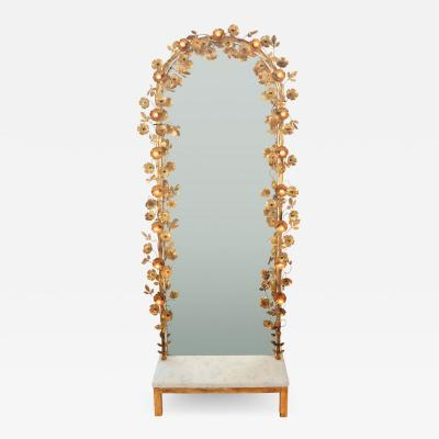 Gracie flower light mirror