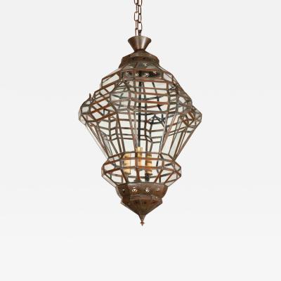 Granada Style Moroccan Clear Glass Lantern