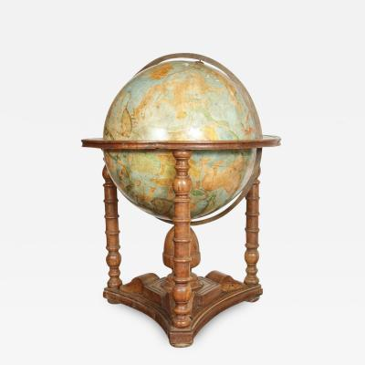 Grand 19th Century Painted Globe
