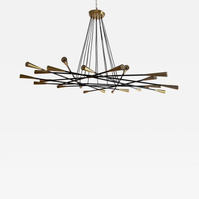 Grand Scaled Multi Light Mid Century Chandelier Italy circa 1960
