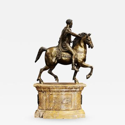 Grand Tour Bronze of the Equestrian Statue of Marcus Aurelius