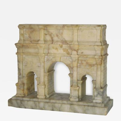 Grand Tour Carved Alabaster Model of the Arch of Constantine