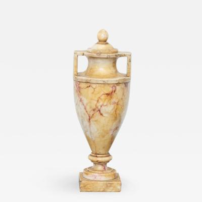 Grand Tour Carved Alabaster Urn