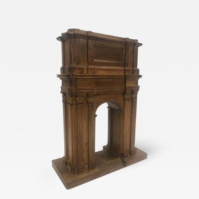 Grand Tour Model of a Boxwood Triumphal Arch Italian 19th Century