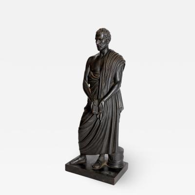 Grand Tour Souviner Patinated Bronze Sculpture of Sophocles Greek Tragedian