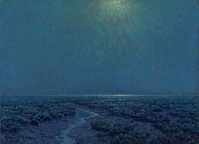 Granville Redmond Moonlight on the Marsh