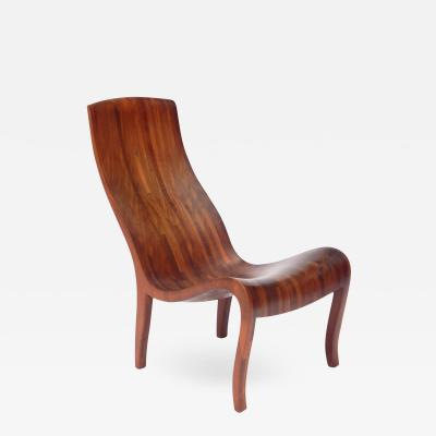 Graphic 20th Century Wood Side Chair