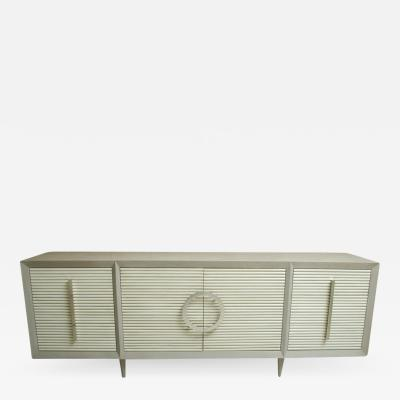 Gray Oak Sideboard with 6 Drawers And 2 Cabinets