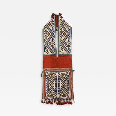 Great Lakes Native American Chippewa or Ojibwa Bandolier Bag