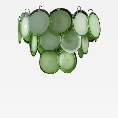 Green Disc Murano Chandelier 1970s