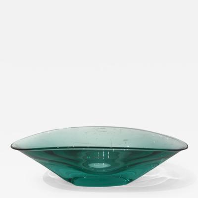 Green Emerald Glass Murano Bowl