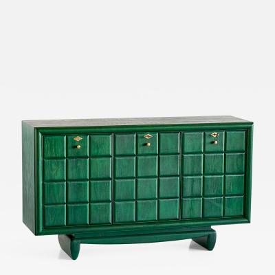Green Italian Art Deco Cabinet Designed for a Florentine Residence