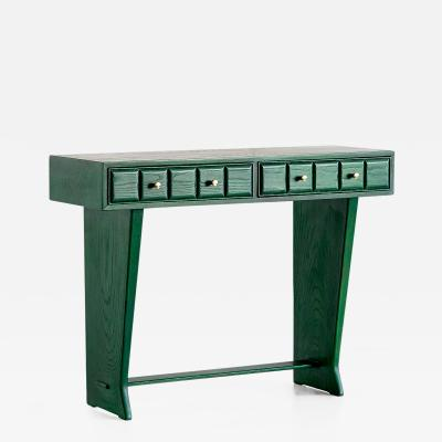 Green Italian Art Deco Console Designed for a Florentine Residence