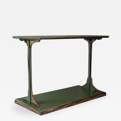 Green Lacquer Side Table