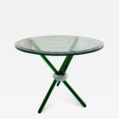 Green Murano Glass Side Table