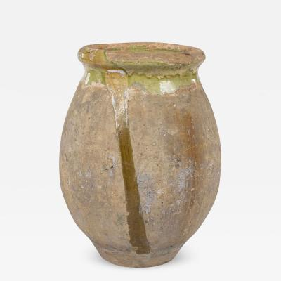 Green and Yellow Glazed Small Biot Jar