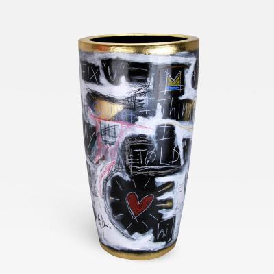 Gregoire Devin Gregoire Devin Painted Ceramic Vase